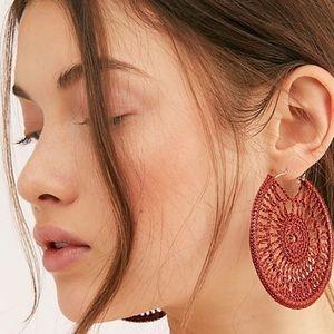 Free People Serefina Sunshine Hoop Earrings